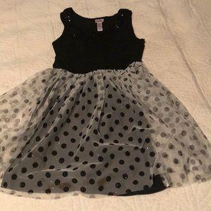 Girls polka dot party dress